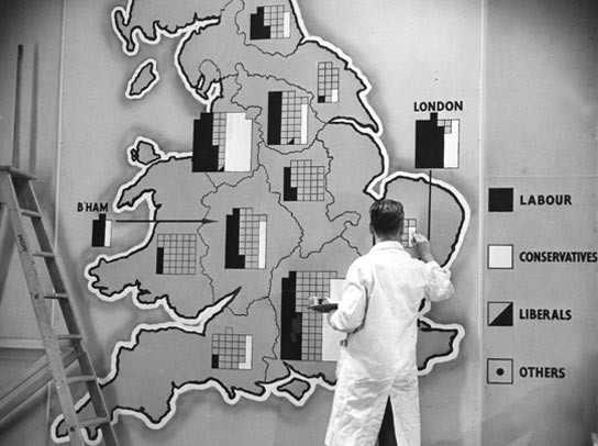 'Data visualisation' during the 1951 general election.